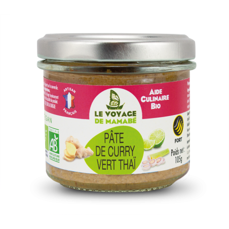 Le Voyage de mamabé - Pâte pour Curry vert bio